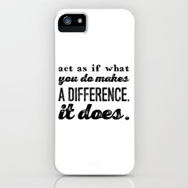 Make a difference iPhone Case