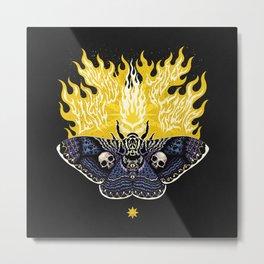 Moths to a Flame Metal Print