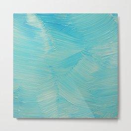 Blue paint streaks Metal Print