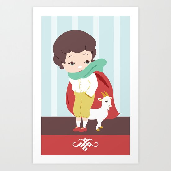 Porcelain Boy  Art Print