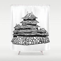 The Black Castle  Shower Curtain