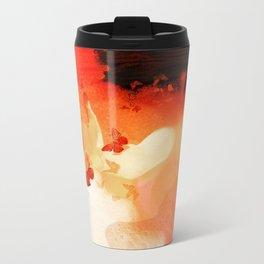 Madame butterfly solo orange  Metal Travel Mug