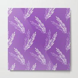 Fragrant lavender flowers in purple arranged in an endless pattern Metal Print