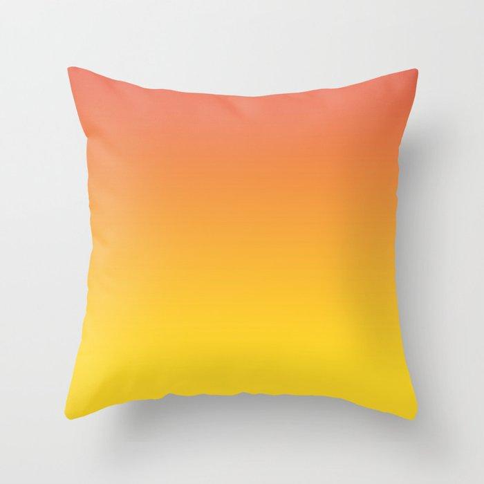 yellow ombre throw pillow  