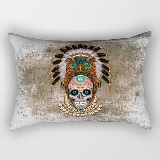 indian native Owl sugar Skull iPhone 4 4s 5 5c 6 7, ipod, ipad, pillow case Rectangular Pillow