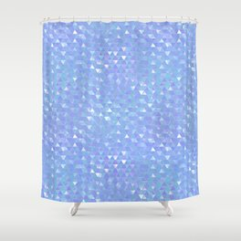 Blue Violet Triangles Shower Curtain
