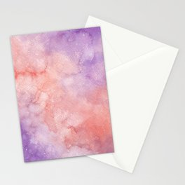 Pink & Purple Galaxy Stationery Cards