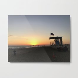 SUNSETS WITH HER VIII Metal Print