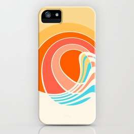 Sun Surf iPhone Case