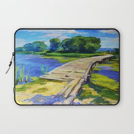 Wooden bridge Laptop Sleeve