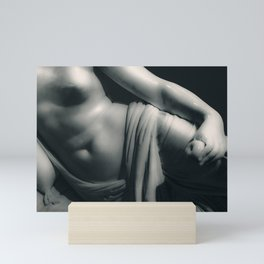 Woman on Bed Sculpture Photography Mini Art Print