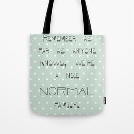 Remember if anyone asks ~ Polka Dots ~ poster ~ typography ~ illistration Tote Bag