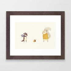 The Last Acorn of Autumn Framed Art Print