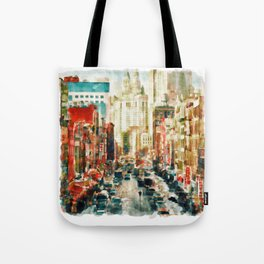 Winter in Chinatown - New York Tote Bag