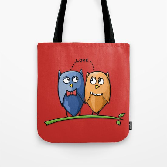 Owl Love red Tote Bag