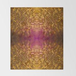 Gold Starburst Shimmer Throw Blanket