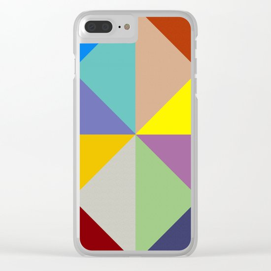 Abstract #229 Clear iPhone Case