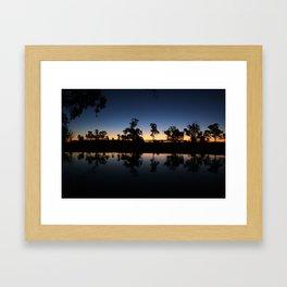 River Sunset. Framed Art Print