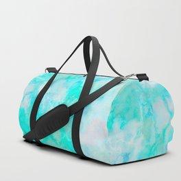 Iridescent Aqua Marble Duffle Bag