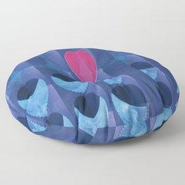 Fractal Art- Heart Art- Pink Heart- Blue Heart-U Know It- Childrens Art-Love Floor Pillow