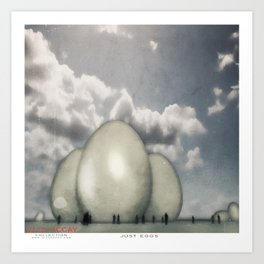 JUST eGGs Art Print
