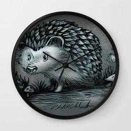 A Little Hedgehog Wall Clock