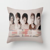 one direction Throw Pillows featuring One Direction by store2u