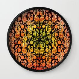 Floral Fabric Vintage Gift Pattern #1 Wall Clock
