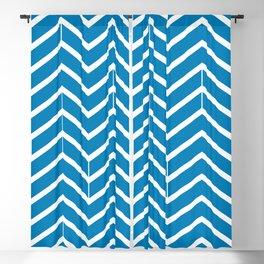 Ibiza Blue Zigzags Blackout Curtain