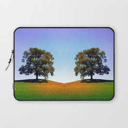 Posing tree on a hill in summertime Laptop Sleeve