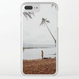 Oahu Palms Clear iPhone Case