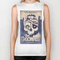 the goonies Biker Tanks featuring Goonies by Jared Andolsek
