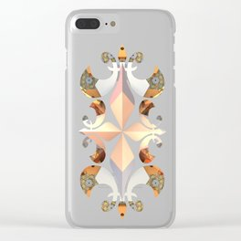 Hexagon Meadows Clear iPhone Case