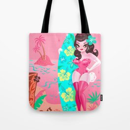 Hawaii Burlesque Festival Beach Bunny Tote Bag