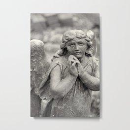 Praying Angel statue Metal Print