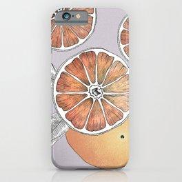 Lilac Grapefruit iPhone Case