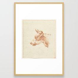Kop van een koe, naar links, Jean Bernard, 1775 - 1833 Framed Art Print