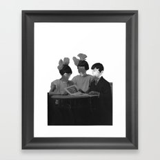 space face Framed Art Print