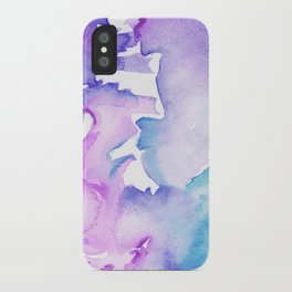 blue wash iPhone Case