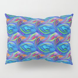 Colorful  blue scales Pillow Sham