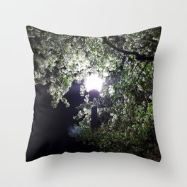 Nightly Blooms Throw Pillow