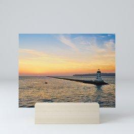 Los Angeles Harbor Lighthouse at Sunset Mini Art Print