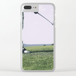 Golfer Driving Clear iPhone Case