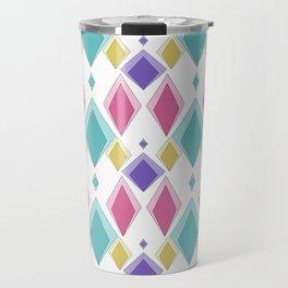Multi-colored diamonds . Retro . Travel Mug