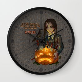 Wednesday Addams - Homicide Wall Clock