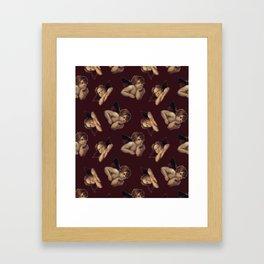 Classical Cherub Toss in Dark Chocolate Cherry Framed Art Print