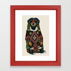 sun bear almond Framed Art Print