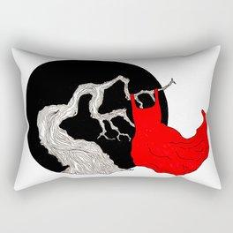 red dress project Rectangular Pillow