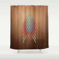 lv Shower Curtains featuring Session 13: LV by Rain Carnival