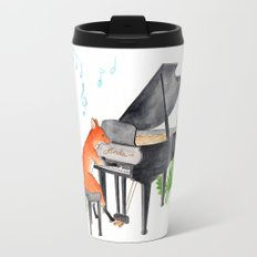 Fox Playing the Piano Travel Mug